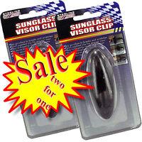 Sunglass Visor Clip - Safe Sunglasses - Lot Of 2