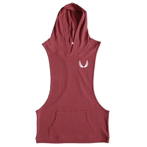 men Gym Stringer Shirt Fitness Tank Top Cotton Bodybuilding Stringer Vest hoodie