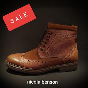Details about Nicola Benson Bull boxer Herren comfort Stiefel Boots Schuhe braun Leder Neu