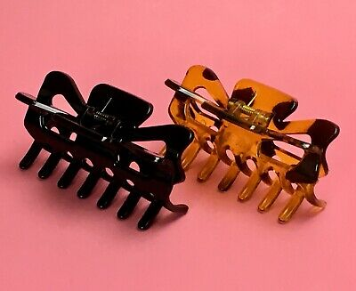 BLACK Large Hair Jaw Clip Claw Clamp 5 inches 2 Pack New NWT