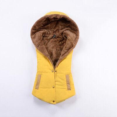 2015 Winter Womens Slim Down Cotton Jacket Sleeveless Coat Hooded Vest Waistcoat
