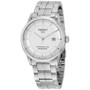 Tissot-Luxury-Automatic-Silver-Dial-Men-039-s-Watch-T086-408-11-031-00