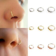 Nose Ring Eyebrow Cartilage Tragus Septum Helix Lip Earring Hoop Stud Ear Cuff