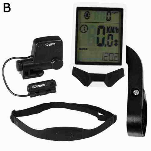 Multifunctional Wireless Bike Bicycle Cycling Computer w//Heart Rate Sensor