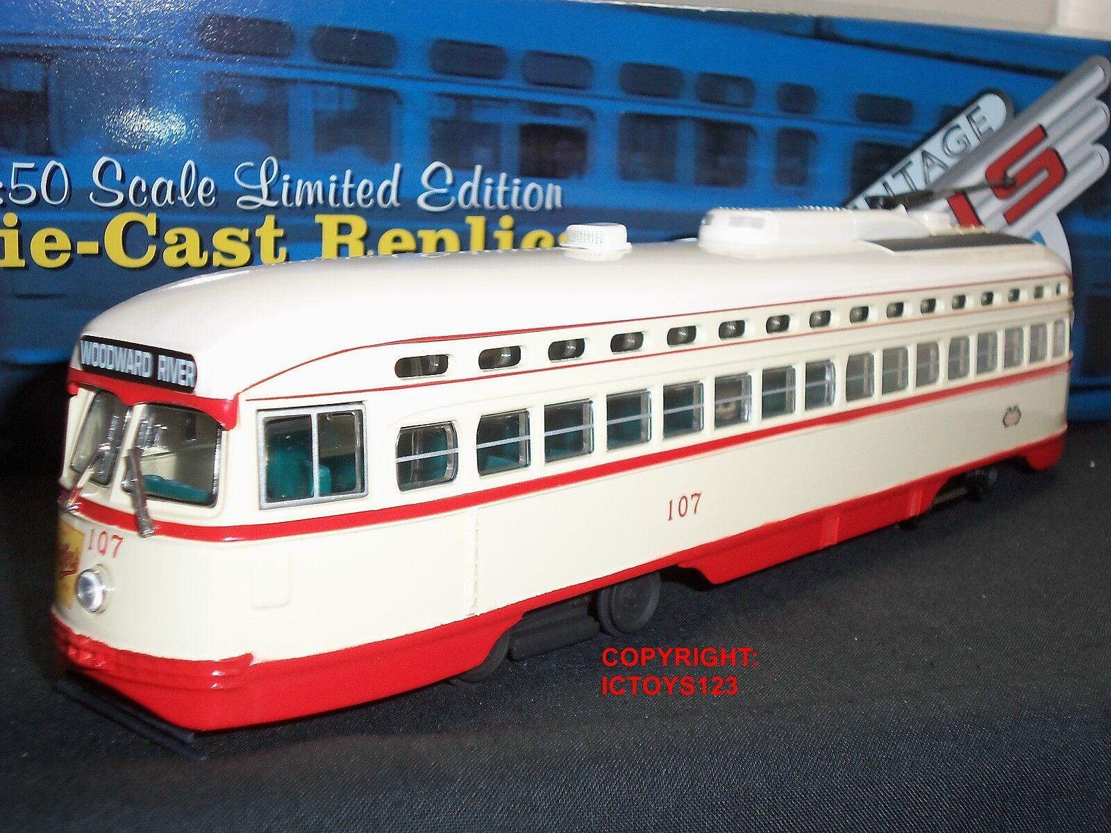 CORGI US55026 Detroit Woodward River Diecast modèle American PCC tramway bus