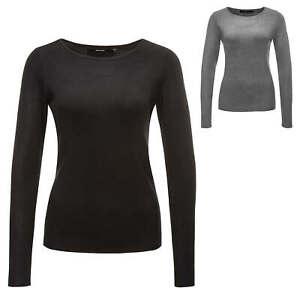 VERO-MODA-Femme-Pull-Tricote-Pull-Basic-O-Neck-Sweater-Pull-SALE