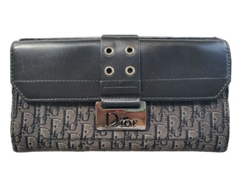Authentic Christian Dior Long Wallet Trotter Patte