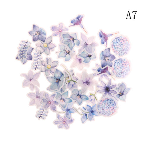 45Pcs Kawaii Journal Diary Decor Flower Stickers Scrapbooking Stationery Sup  AL