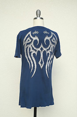 Sinful T-Shirt Tunic Heavy Metal Metallic Angel Wings Size Large Junior