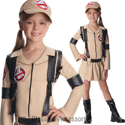 Boys 80s Ghostbuster TV Book Film Halloween Fancy Dress Up Costume Outfit 3-10yr