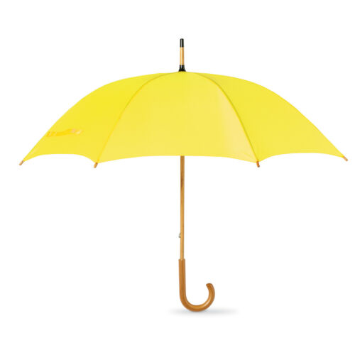 Classic Umbrella with Wooden Crooked Handle Manual Opening WALK Bride /& Groom