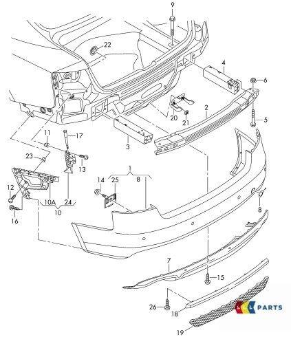 NUOVE Originali AUDI RS5 10-16 Paraurti Posteriore Diffusore Inserto TRIM GRIGLIA 8T0807421 3FZ