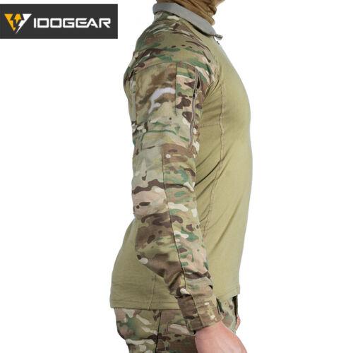 IDOGEAR G4 Military Shirt W// Elbow Pads Combat Tactical Shirt Camo Multicam Duty