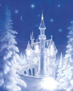 Frozen Christmas.Details About Cinderella Snow Castle Christmas Frozen Froz Fairy Matted Print Signed Souders