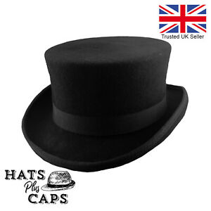 NEW BLACK DRESSAGE RIDING EQUESTRIAN TOP HAT 100/% WOOL BOXED UK SELLER