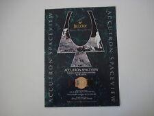 advertising Pubblicità 1993 OROLOGIO BULOVA ACCUTRON SPACEVIEW