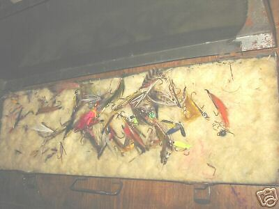 Professional fly fishing case large assortment flies