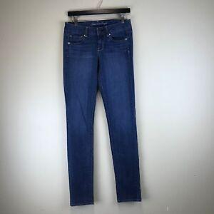 American Eagle Jeans - Skinny Dark Wash - Tag Size: 4 X-LONG (28x34.5) - #6445
