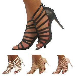 NEW-WOMENS-LADIES-GLADIATOR-PEEP-TOE-HIGH-STILETTO-HEEL-SHOES-SIZE-3-8