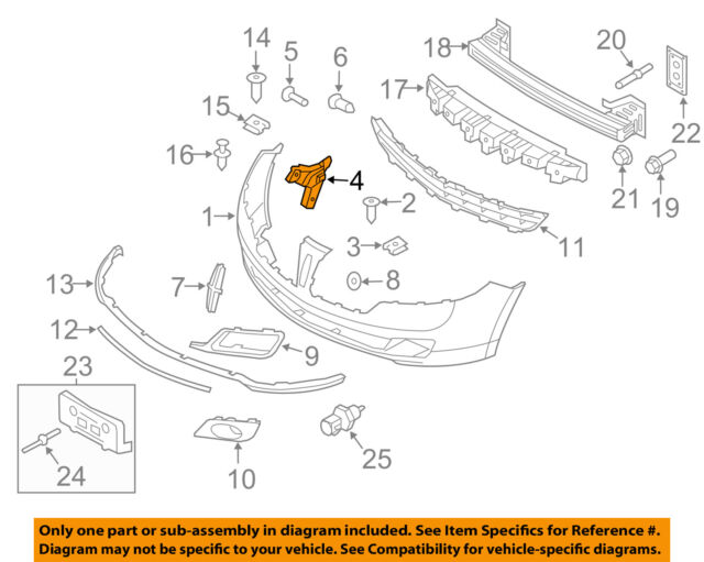 Lincoln FORD OEM 10-12 MKZ FRONT BUMPER-Side Reinforcement Right AH6Z17C947A