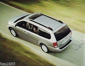 Image Is Loading 2007 Hyundai Entourage Mini Van Brochure With Color