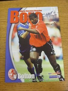 19012002 Middlesbrough v Bolton Wanderers  Excellent Condition - Birmingham, United Kingdom - Returns accepted within 30 days after the item is delivered, if goods not as described. Buyer assumes responibilty for return proof of postage and costs. Most purchases from business sellers are protected by the Consumer Contr - Birmingham, United Kingdom