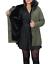 Parka-Donna-Invernale-Giubbotto-cappuccio-pelliccia-Cappotto-Imbottito-Lungo miniatura 13