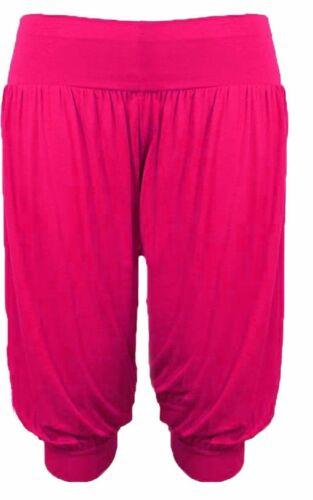 3//4 Harem Baggy Pantaloncini Corti Tinta Unita Ali Baba Pantaloni Hareem Pantaloni Legging 8-26