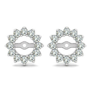 Image Is Loading 0 5 Carat White Round Diamond Stud Earring