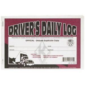 J-J-Keller-Deluxe-Driver-039-s-Daily-Log-Book-with-Detailed-DVIR-12-Books