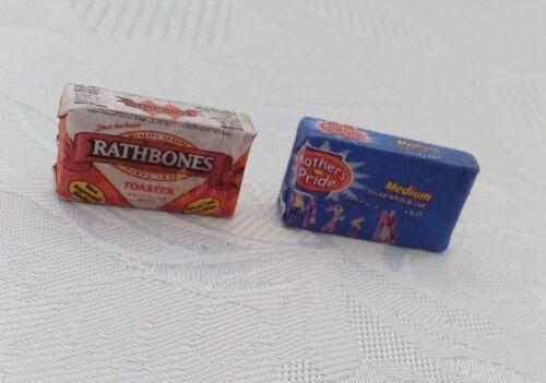 Escala 1//12 madre orgullo y rathbones Pan-Conjunto de 2 para Dollshouse Miniatures