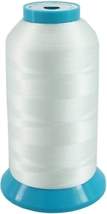 brothread White Huge Spool 5000M 5500Y Bobbin Thread for Embroidery and Sewing