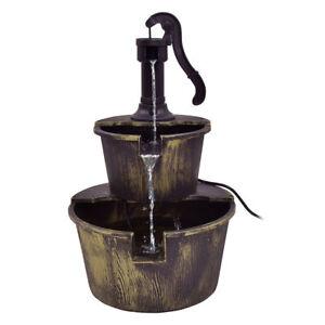 Delightful Image Is Loading 3 Tier Cascade Barrel Waterfall Water Fountain Pump