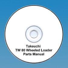 Takeuchi  TW80 / TW 80 Wheeled loader Parts Manual