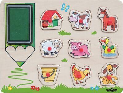 Kinderstempel-Farm Stempelset Set Stempel Kinder Spielzeug Kinderspielzeug Spiel