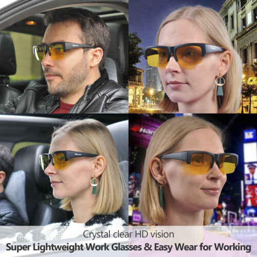 SAFEYEAR Safety Glasses Driving Anti Glare Scratch Antifog HD Multi-layer Lens