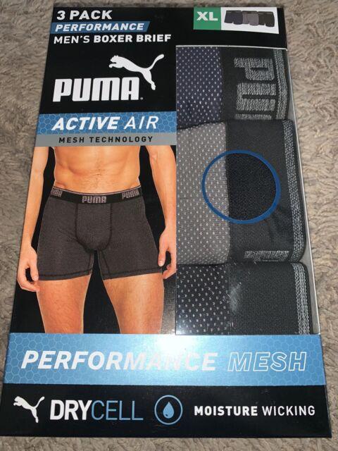 PUMA Men's Performance Boxer Brief 3 PK Active Air Mesh Technology ...