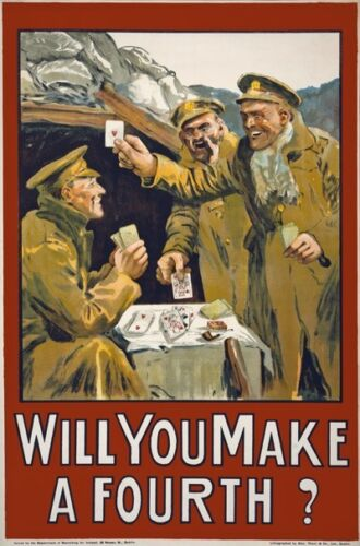WA122 Vintage WW1 Will You Make A Fourth Irish Recruiting War Poster A1//A2//A3//A4