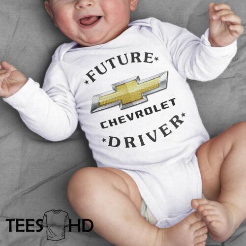 Chevrolet Car Cotton Personalized Baby Vest Bodysuit Long Short Sleeve Unisex