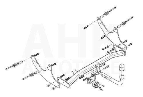 Pour Dacia Logan MCV 13-16 complet Attelage de remorque attelage rigide