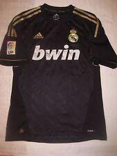 2011-2012 Adidas Real Madrid Away Black/Gold Jersey Shirt Kit Trikot Ronaldo M