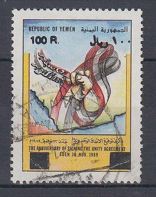 Mittlerer Osten g1119 Briefmarken WohltäTig Yemen Republic 1993 Used Mi.133 A Einheitsstaat Unity State Flagge Flag