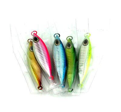 6PK  Micro Jigs Butterfly Metal Jig Fishing Lure 60g Snapper Luminous Slow Lures