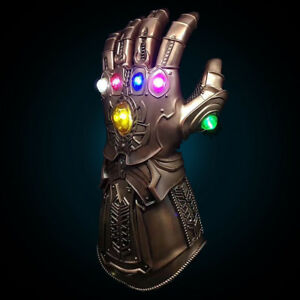 Avengers-Thanos-Glove-Gauntlet-Guanti-LED-Luce-Cosplay-Regalo-Natale-Show-Party