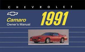 1991 chevrolet camaro owners manual user guide 602693810661 ebay rh ebay com Camaro Shop Manual Chevrolet Corvette