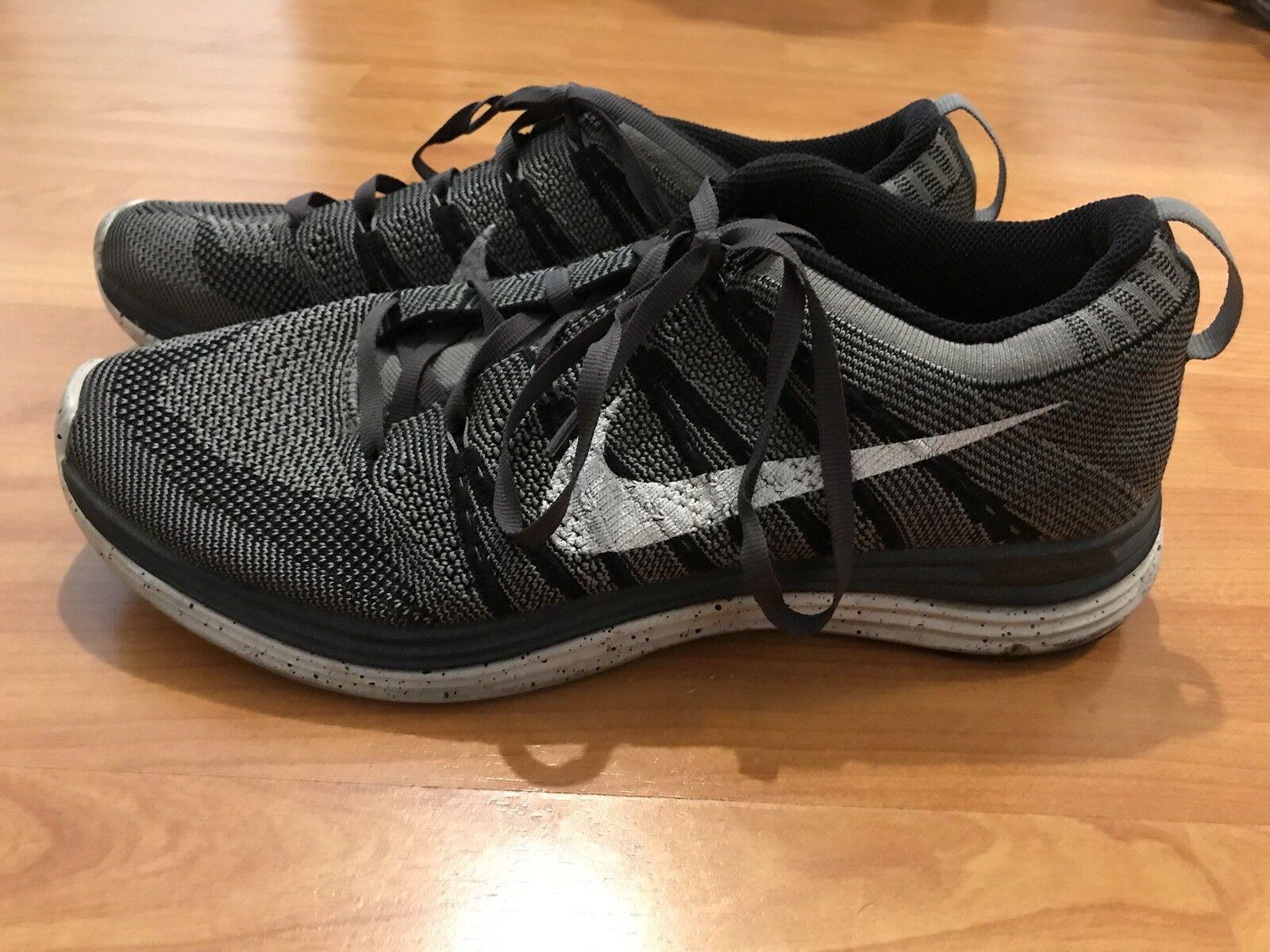 Nike flyknit lunare uno + grigio antracite oreo misura 8,5 8,5 misura d57774