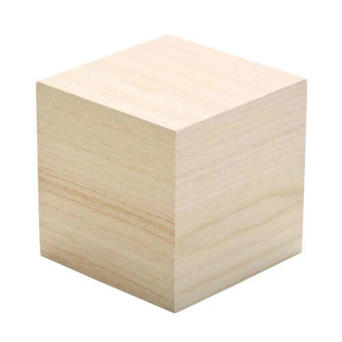 Plain Wooden Building Blocks Cubes Baby Child Christening Birthday Ornament Gift