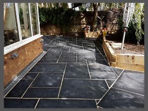 Image Is Loading Premium Natural Stone Paving Kota Black Limestone Garden