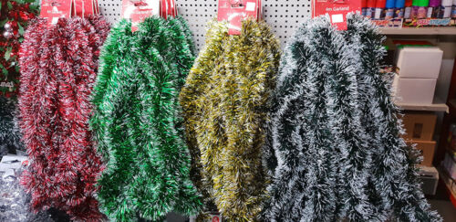 vert vert foncé Garland 2 M//4 m Noël Neige Guirlandes Décoration or rouge