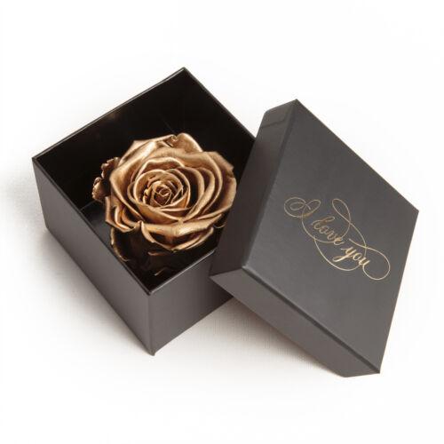 Infinity Rose Doré I Love You 3 ans conservés Je T/'aime Cadeau Femmes